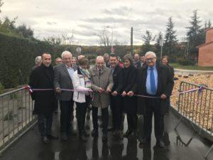 Lavilledieu : inauguration des travaux quartiers Le Saut et Le Moulin