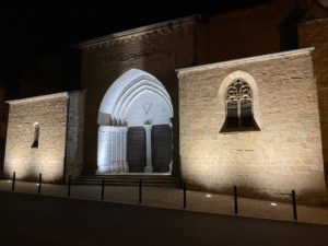 Compétence éclairage public : Largentière éclaire son église