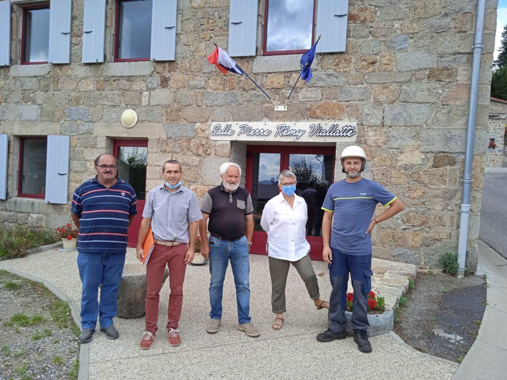Saint-Jean-Roure réception installations photovoltaïques