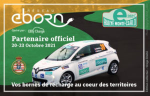 EBORN partenaire du 5ème E-Rallye Monte-Carlo